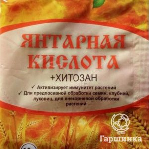 Янтарная кислота (с хитозаном) 10 гр ругулятор роста
