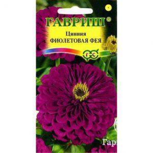 Семена Цинния Фиолетовая фея 0