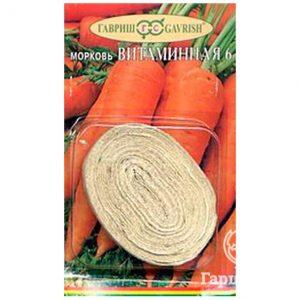 Семена Морковь на ленте Витаминная-6  (Гавриш)